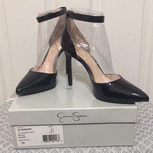 Size 7 Jessica Simpson Patent Strap heels